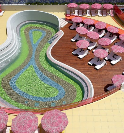 smiramis pool, colourful pool