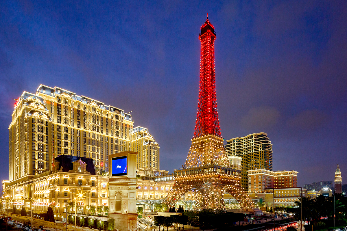 The Parisian Macao Exterior This hotel in China has an Effeil tower too!