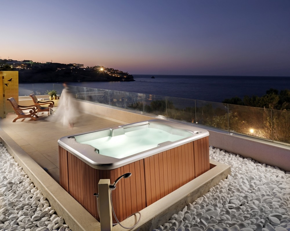 hotel jacuzzi design, out of-the blue capsis elite resort