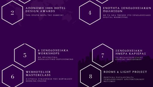 7 + 1 Λογοι που Ξενοδοχοι και Αρχιτεκτονες θα επισκεφθουν το φετινο 100% Hotel Show!