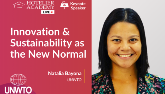 Η Natalia Bayona απο τον Παγκοσμιο Οργανισμο Τουρισμου, μιλαει ζωντανα για την καινοτομια και την αειφορια στην Hotelier Academy Greece, την Τεταρτη 14 Οκτωβριου 2020!