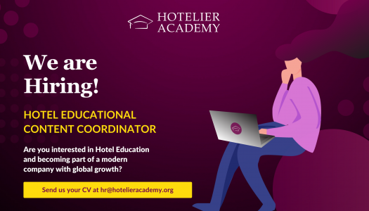 Hotel Εducational Content Coordinator: New Job Opening at Hotelier Academy